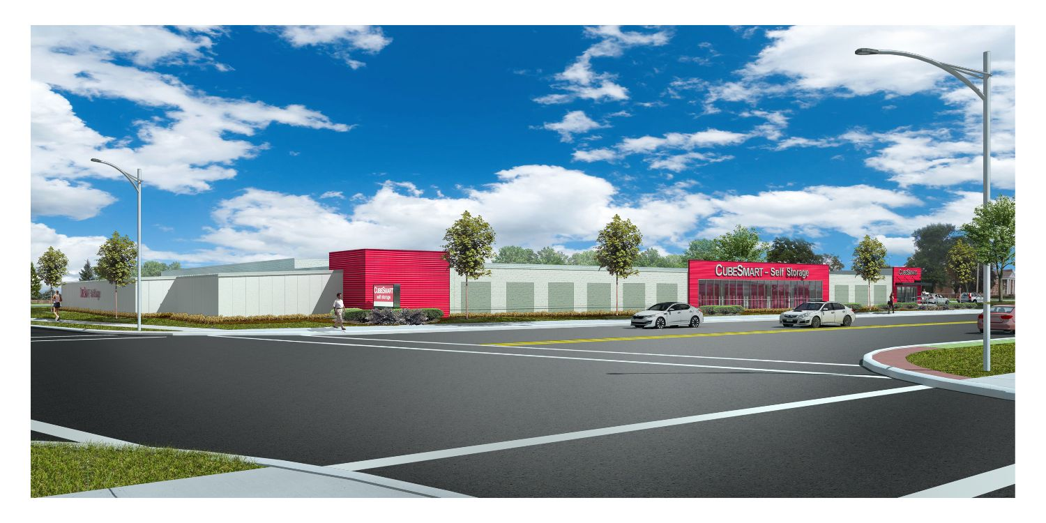 Rendering of new self storage facility